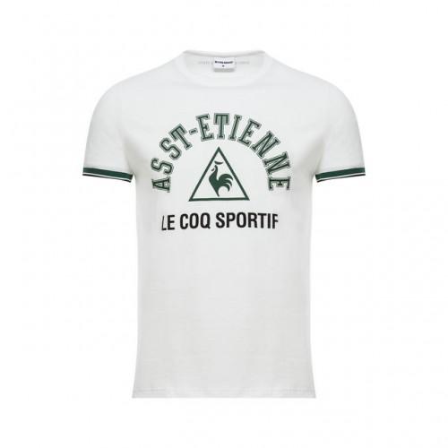 5ead6278c3cd Le Coq Sportif T-shirt ASSE Fanwear Homme Blanc Soldes Provence