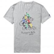 Acheter Nouveau Le Coq Sportif T-shirt TDF 2017 Fanwear N°5 Homme Gris En Ligne