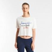 Le Coq Sportif T-shirt Tricolore 1882 Femme Blanc Officiel