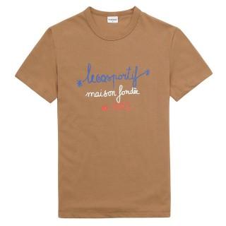 Le Coq Sportif T-shirt Tricolore 1882 Femme Marron Boutique En Ligne