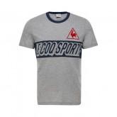 Vente Privée Le Coq Sportif T-shirt Tricolore Football Homme Gris Bleu