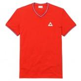 Le Coq Sportif T-shirt Tricolore Homme Rouge Site Francais