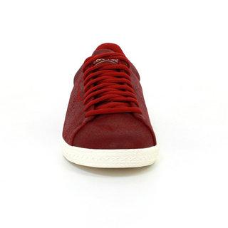 belle qualité produits de commodité mode Basket Le Coq Sportif Charline Metallic Suede Femme Rouge ...