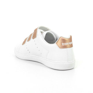 Chaussures Le Coq Sportif Courtone Ps S Lea/Metallic Fille Blanc Rose