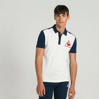 25e3b6cc281 Le Coq Sportif Polo Tricolore Tennis Homme Bleu Officiel