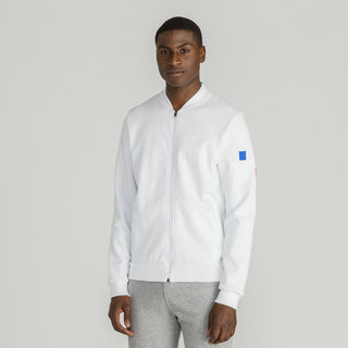 Le Coq Sportif Sweat zippé Tricolore Cycling Homme Blanc